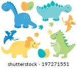 boy dinosaurs   blue dinosaurs   Shutterstock .eps vector #197271551