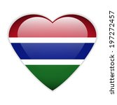 gambia flag button on a white... | Shutterstock .eps vector #197272457