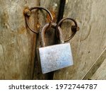 Locked Old Door. Selective...