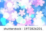 cherry blossoms and lights.... | Shutterstock . vector #1972826201