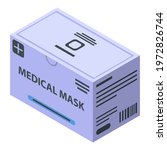 medical mask package icon.... | Shutterstock .eps vector #1972826744