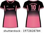 women sports jersey t shirt... | Shutterstock .eps vector #1972828784