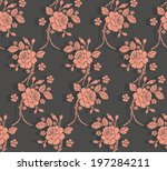 seamless pattern with beautiful ... | Shutterstock .eps vector #197284211