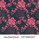 seamless pattern with beautiful ... | Shutterstock .eps vector #197284247