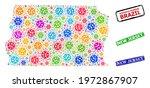 vector cell mosaic brazil... | Shutterstock .eps vector #1972867907