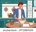 male character preparing...   Shutterstock .eps vector #1972884104