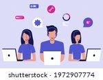 vector illustration. customer...   Shutterstock .eps vector #1972907774