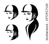 woman horse rider wearing...   Shutterstock .eps vector #1972917134