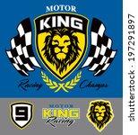 motor lion racing graphic set   Shutterstock .eps vector #197291897