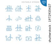 wind turbine related icons....   Shutterstock .eps vector #1972935437