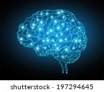 the concept of thinking... | Shutterstock .eps vector #197294645