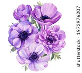 Delicate Flower. Hand Painted...