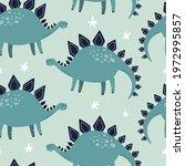stegosaurus dino seamless... | Shutterstock .eps vector #1972995857