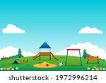 playground for kids vector...   Shutterstock .eps vector #1972996214