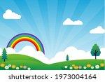nature landscape cartoon...   Shutterstock .eps vector #1973004164