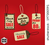 black friday sales tag and... | Shutterstock .eps vector #197300591