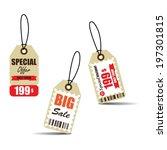 vintage style sale tags design  ... | Shutterstock . vector #197301815
