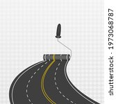 laying a winding road. traffic... | Shutterstock .eps vector #1973068787