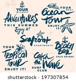 hand drawn retro elements for... | Shutterstock .eps vector #197307854