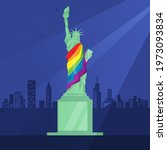 lgbt concept. the statue of...   Shutterstock .eps vector #1973093834