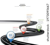 vector road infographic with... | Shutterstock .eps vector #1973095667