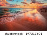 amazingly colorful sea beach... | Shutterstock . vector #197311601