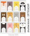 calendar 2015. vector... | Shutterstock .eps vector #197316269