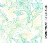 elegant seamless pattern with... | Shutterstock .eps vector #197316881