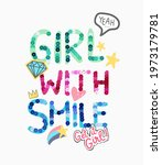 girl with smile colorful... | Shutterstock .eps vector #1973179781