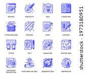 copyrighting web flat line... | Shutterstock .eps vector #1973180951