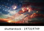 celebratory fireworks on the... | Shutterstock . vector #197319749