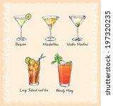vector cocktail menu