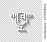 simple microphone icon  podcast ...   Shutterstock .eps vector #1973208521