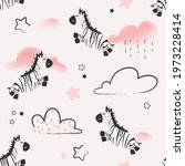 cute seamless pattern with... | Shutterstock .eps vector #1973228414