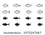 fish line and glyph icon set.... | Shutterstock .eps vector #1973247467