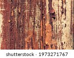 Old Painted And Weathered Wood. ...