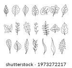 collection of hand drawn... | Shutterstock .eps vector #1973272217