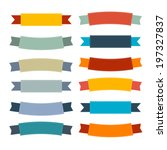 labels  tags  ribbons set in... | Shutterstock .eps vector #197327837