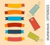 colorful retro ribbons  labels... | Shutterstock .eps vector #197328221