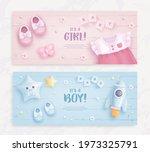 set of baby shower invitation...   Shutterstock .eps vector #1973325791