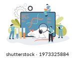 tiny genetic engineers with rat ... | Shutterstock .eps vector #1973325884