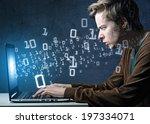 the hacker | Shutterstock . vector #197334071