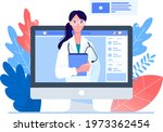 online doctor  support. first...   Shutterstock .eps vector #1973362454