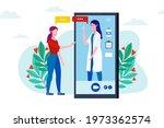 online doctor  support. first...   Shutterstock .eps vector #1973362574