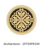 ancient heraldic emblem of gold ...   Shutterstock .eps vector #1973399234