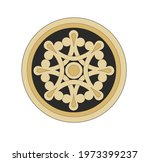 ancient heraldic emblem of gold ...   Shutterstock .eps vector #1973399237