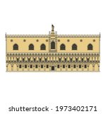 drawing of historical buildings ...   Shutterstock .eps vector #1973402171