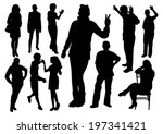 people silhouettes set | Shutterstock .eps vector #197341421