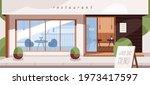 front view of restaurant...   Shutterstock .eps vector #1973417597