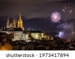 Fireworks Over The Old Town Of...